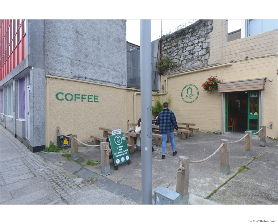 Peter's Street, in the heart of Waterford, is the location of the second Arch Coffee.