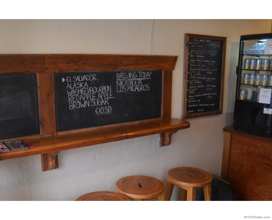 There's more information on a series of blackboards to the left, starting with...
