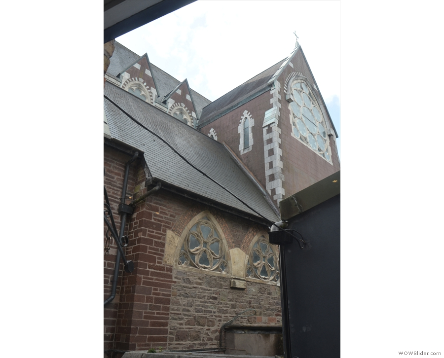 And here's the view out of the window: that's the back of Saints Peter and Paul's Church.