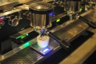 Precision coffee making in action.