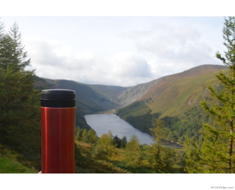 ... while here's a view of Glendalough from high above.