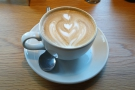 ... so I popped upstairs to The Pigeon House Cafe, where I enjoyed a flat white...