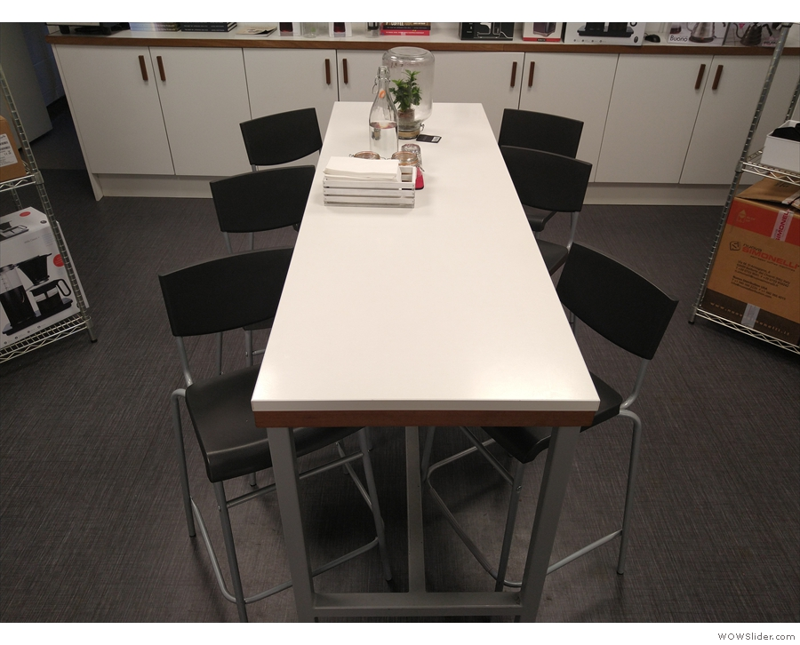 ... but there's another central, six-person communal table which acts as overspill seating.