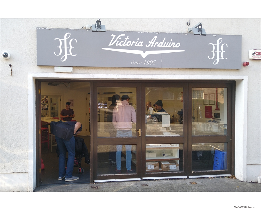 On the ground floor, a set of four French doors marks out 3FE's second location.