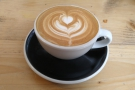 It was my first coffee of the day, so I went with a flat white, made with a seasonal...