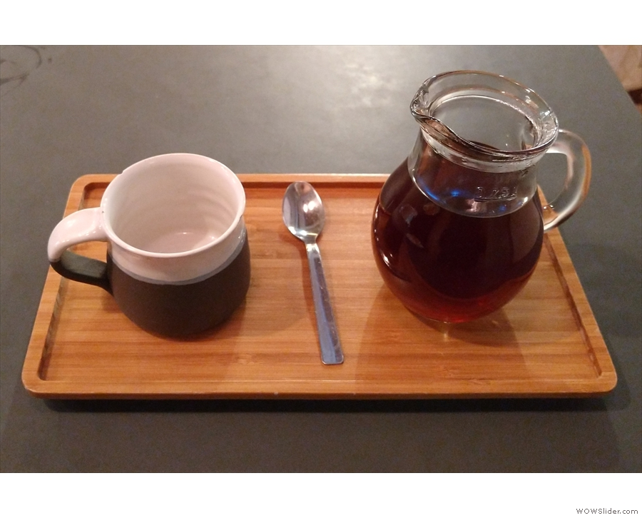 I paired this with a pour-over of the Gakui AA Kenyan single-origin...
