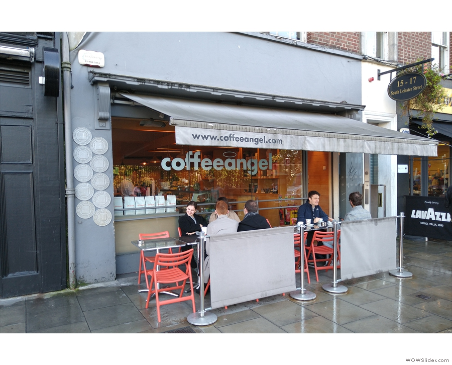 On the south side of Dublin's busy Leinster Street stands Coffeeangel TCD.