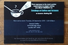 An evening of Coffee & Science, organised by Bean Thniking.