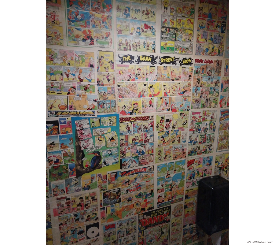 ... toilet, decorated with pages from the Beano!