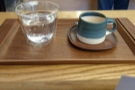I had the guest espresso, the La Divina from El Salvador, roasted by Nomad. Served in a...