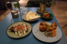 ... the small plates from the a la carte menu, plus a side of halloumi fries.