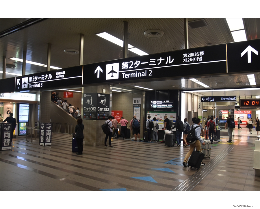 Arriving at Narita by train and the signs couldn't be clearer.