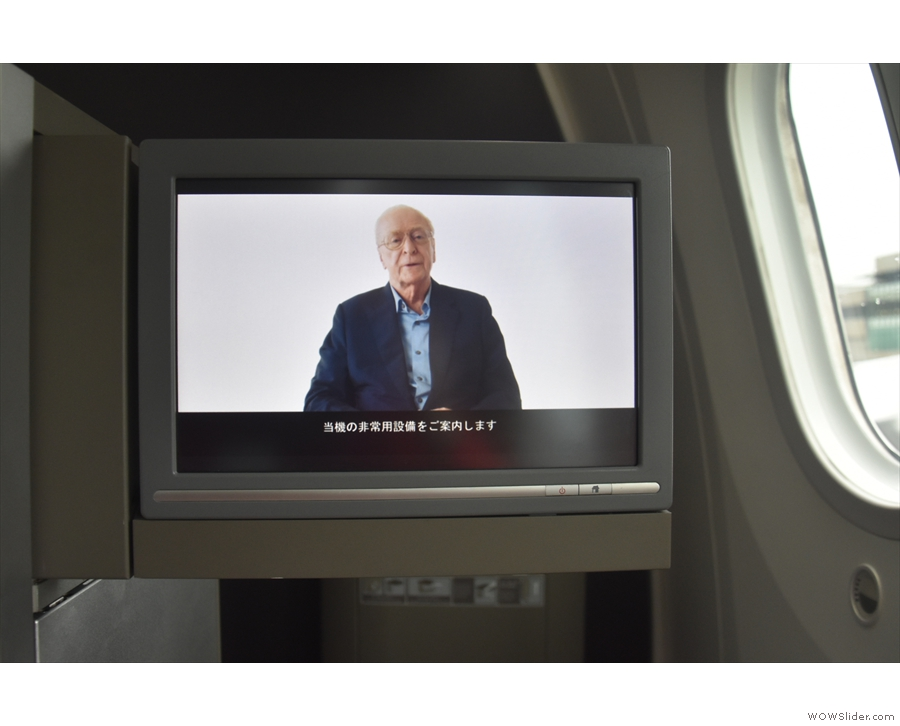 We sat on the tarmac to watch the safety video, which is the best one going...