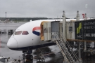 My ride home, a British Airways Boeing 787-900. There were two airbridges...