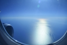 ... over the Sea of Japan. The 50% setting kept it bright enough, but cut down the glare.