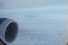 As we approached the English coast, the cloud thickened up...
