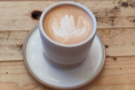 ... which had my attention, so I started with a flat white, served in a handless...