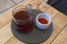 Finally, serve, in a carafe, small cup on the side. Check out the lovely colour of my coffee.