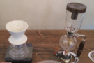 ... while I was drawn to the filter coffee, specifically the syphon, which you see so rarely.