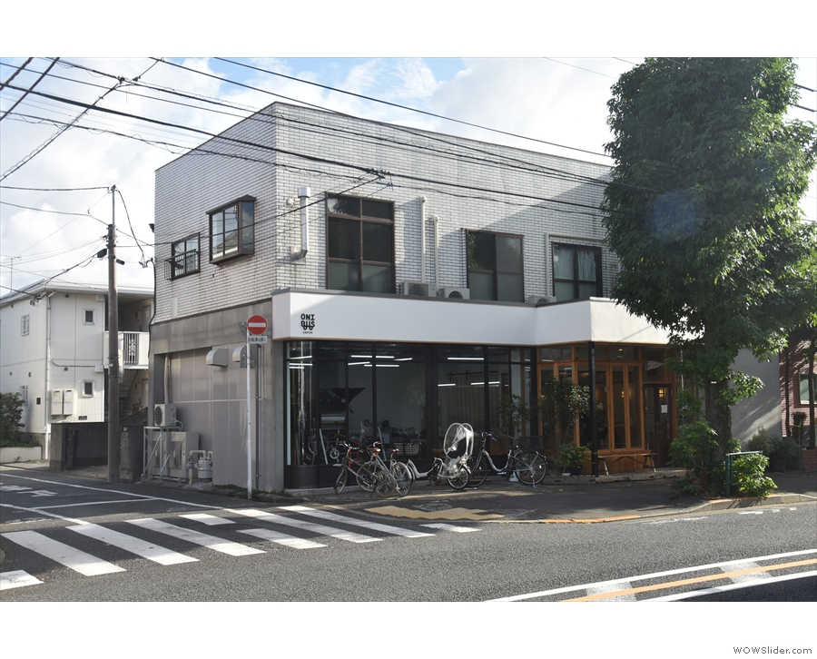 On the main east-west route through Meguro City stands this two-storey building...