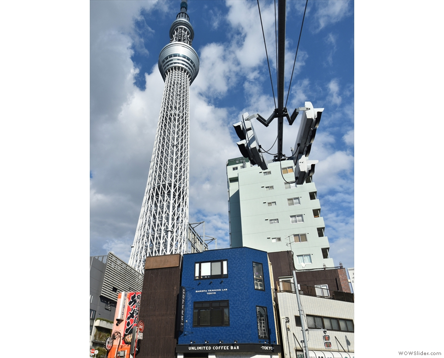 ... towering over it? Why, it's the Tokyo Skytree, the world's tallest tower!
