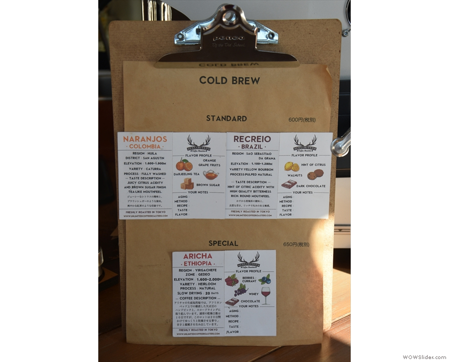 There's more detail on the cold-brew choices...