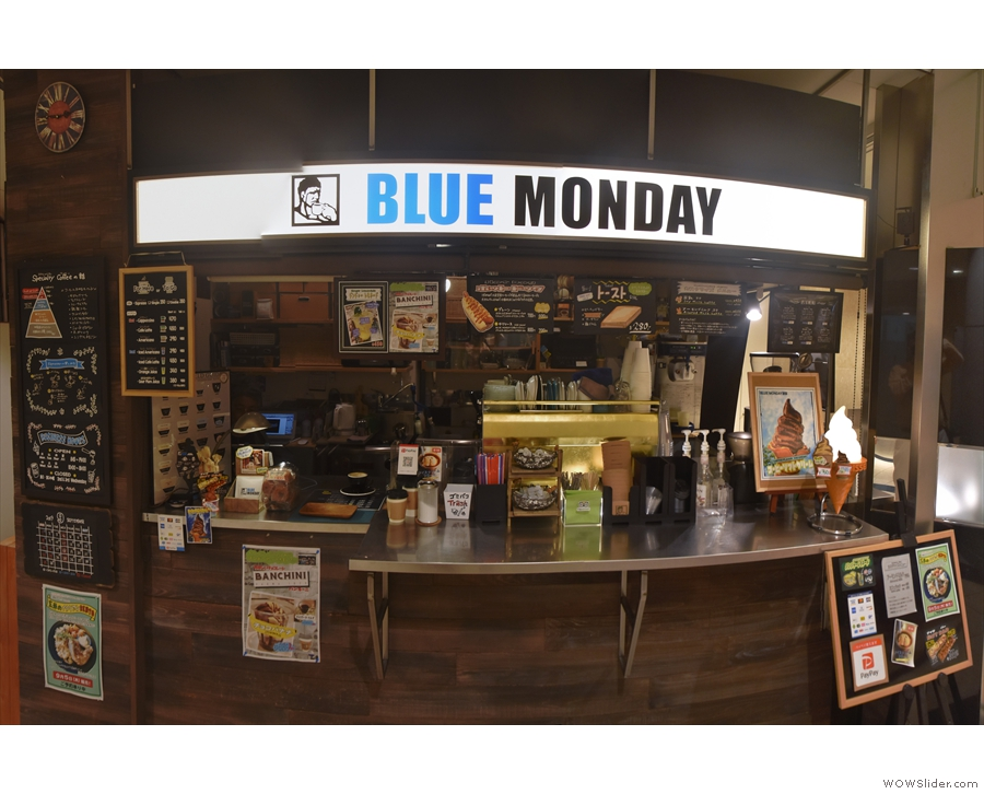 Blue Monday, an espresso stand in a basement in Kanazawa.