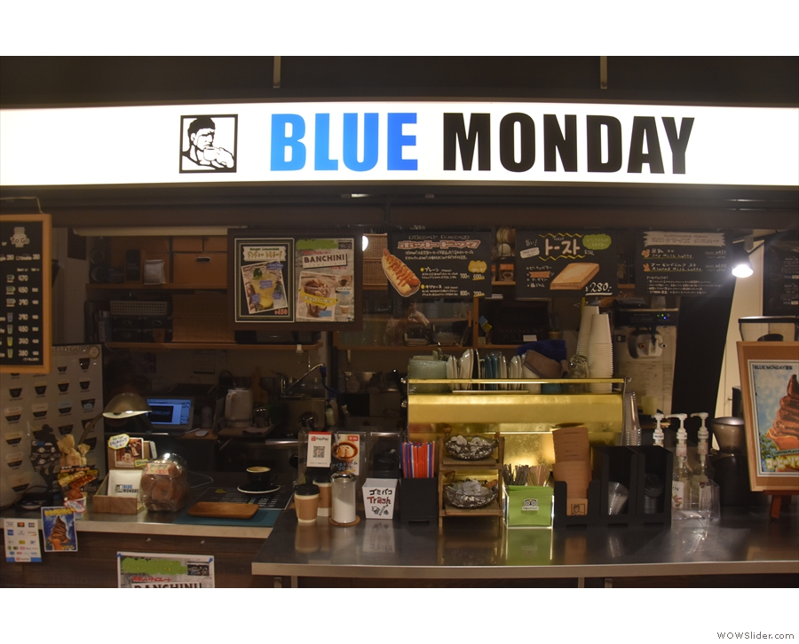 The business end of Blue Monday is the Synesso espresso machine in the middle of...