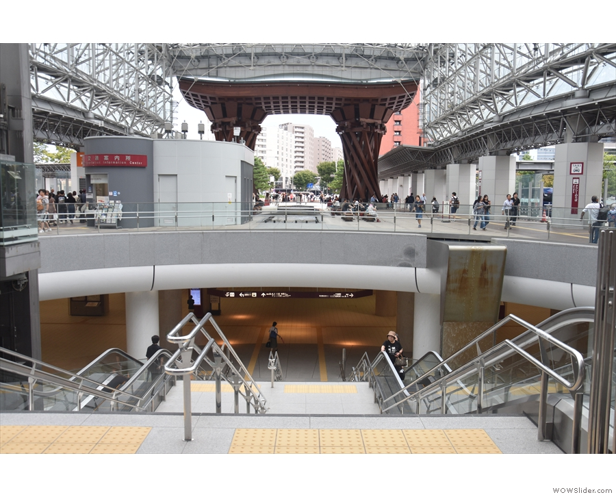 Alternatively, if you're coming from Kanazawa station, use the main entrance...