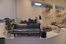 To business. The espresso machine, a La Marzocco Strada, greets you as you enter...