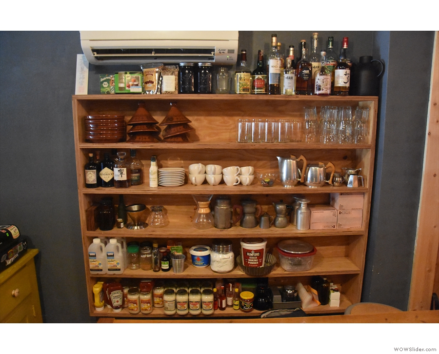 ... and a wonderful range of bits and pieces on these shelves on the right.