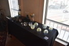 During my visit, there was a display of glassware.