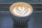 Another flat white, this one with this lovely, long lasting latte art...