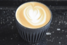 I'm pleased to say that I was the very first customer, celebrating with this flat white.