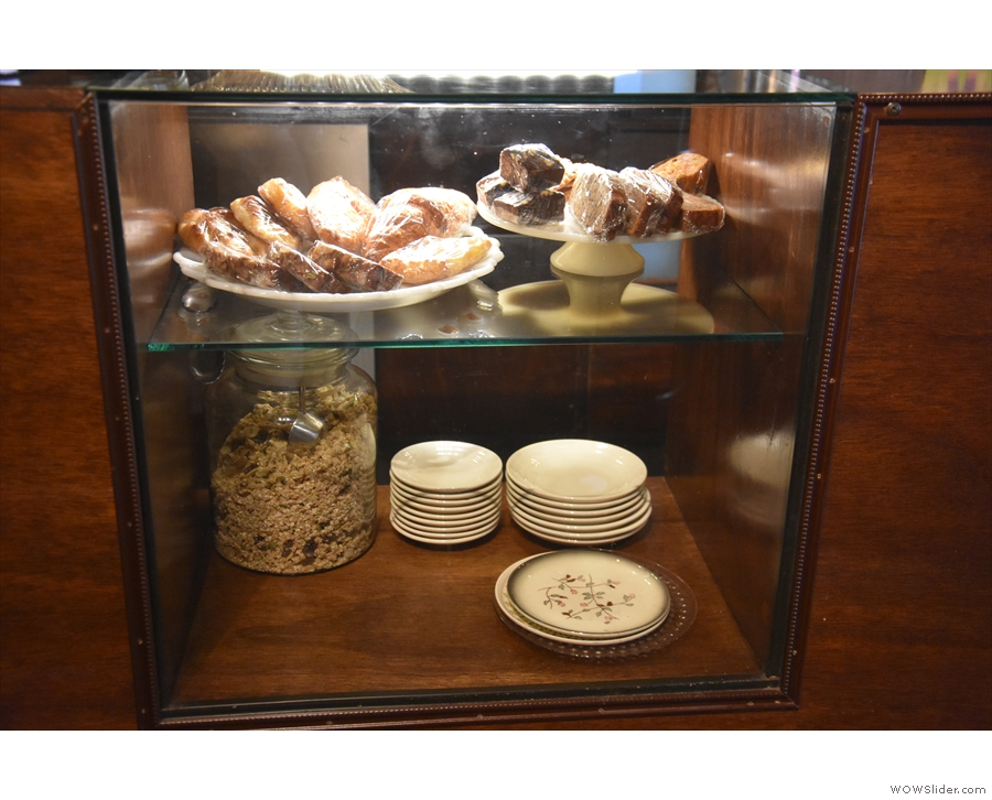 Check out the selection of cakes and pastries.