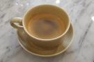 ... a quick espresso before my tour of the roastery.