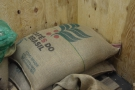 Obligatory roastery picture of a sack of green beans.