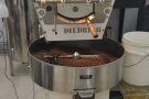 Now the job is to cool the beans as quickly as possible to prevent any further roasting...