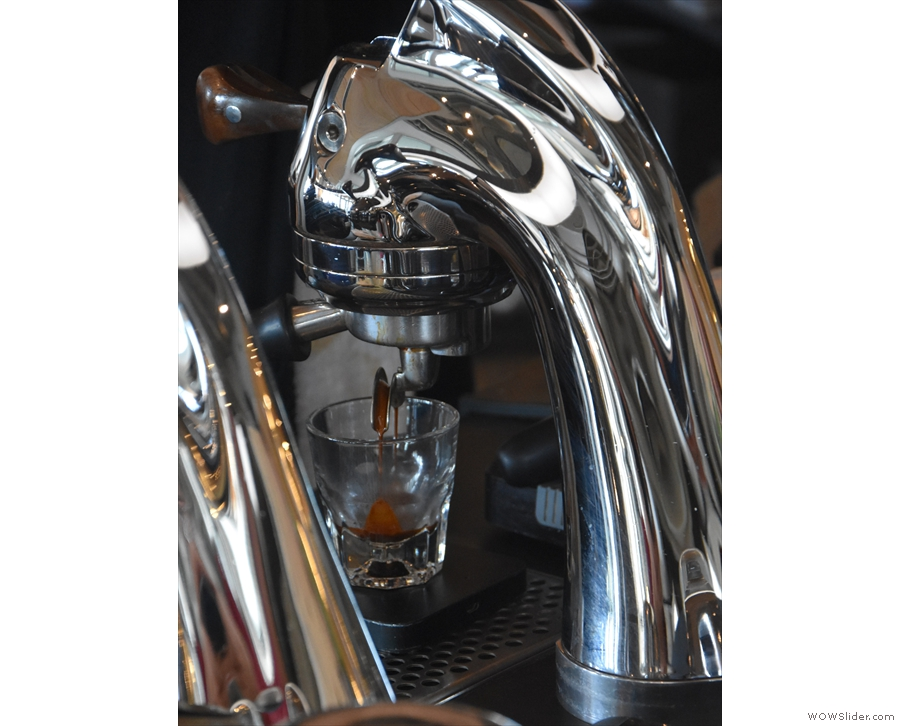 ... your espresso extract, this is where it's at. Grab a seat by the Modbar group heads...
