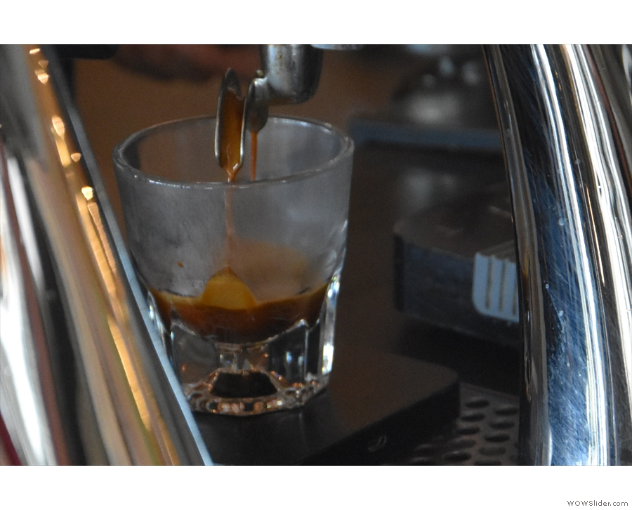 ... and feast your eyes. I particularly love watching espresso extract into glasses.