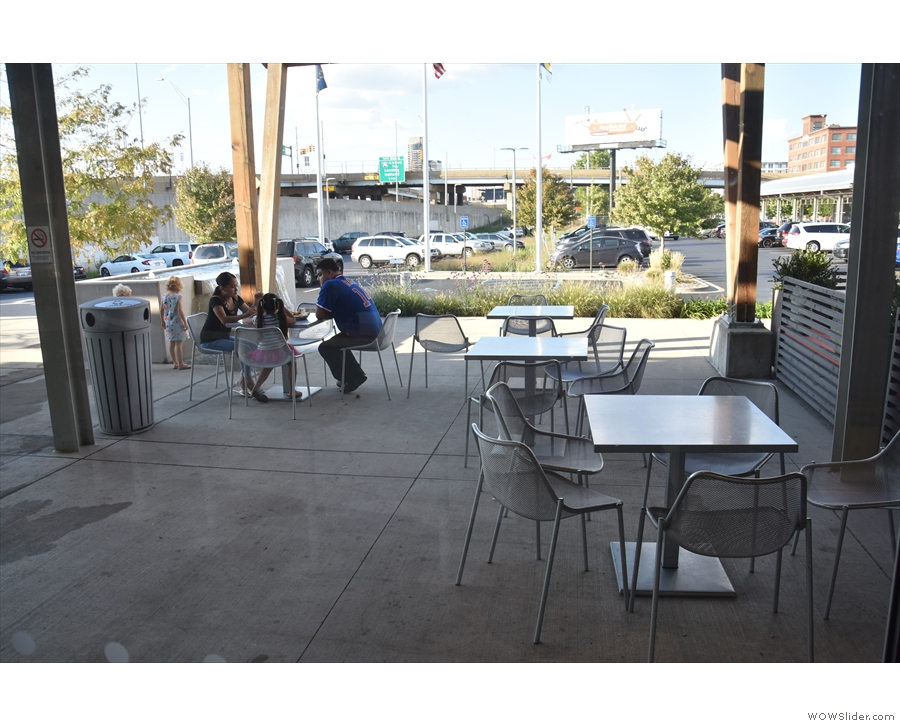 Finally, don't forget there's the outside seating.