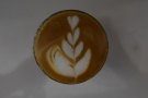 ... with the lovely latte art...
