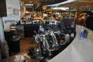 ... while to the right is the espresso module and two grinders.