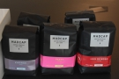 There's the usual array of coffee-making equipment, as well as bags of beans...