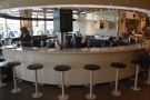 ... where you'll find 12 fixed bar stools.
