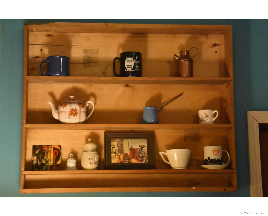 There's lots of really nice features in the back rooms, such as these shelves...