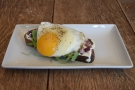 I'll leave you with my lunch, the arugula and egg on toast, which was as tasty as it looked.