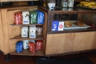 ... in a display case under the counter, complete with retail bags of beans to the left.