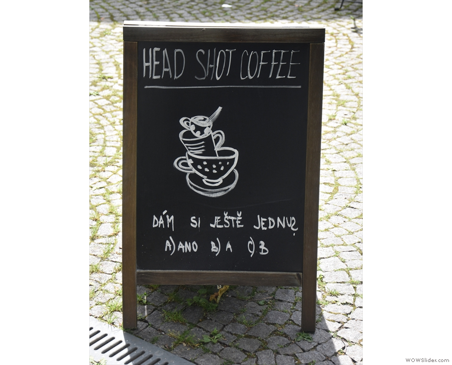 ... where I'll leave you with the A-board.