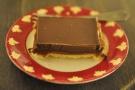 My caramel slice. Nice plate. Nicer slice.